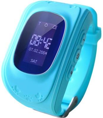 SeTracker GPS Tracker Smart Watch for Kids Silver Smartwatch(Blue Strap S)