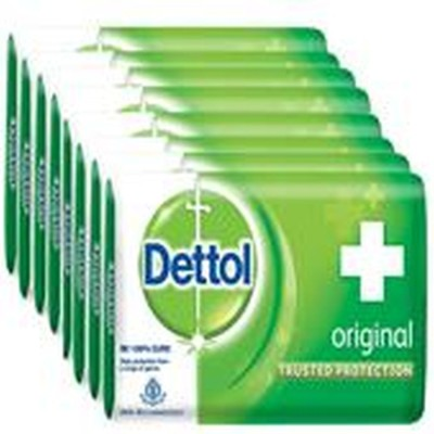 Dettol Bathing Bar Soap, Original Epic (Pack of 8)(8 x 125 g)