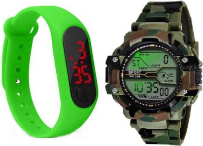zintaas ultimate new digital watch with new look digital green band fast selling track designer combo watch party wear_birthday gift...