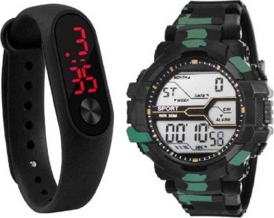 zintaas ultimate new digital watch with new look digital black band fast selling track designer combo watch party wear_birthday gift...