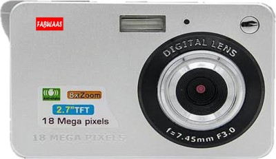 fabulaas 18 MP Digital Camera f=7.45mm F=3.0 Point & Shoot Camera(Silver)
