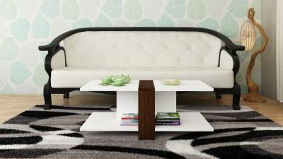 Crystal Furnitech Berman Engineered Wood Coffee Table(Finish Color - Dark wallnut GL + Frosty white)