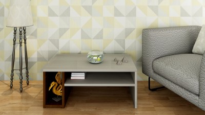 Crystal Furnitech Avril Engineered Wood Coffee Table(Finish Color - Black HGl + Cairo Wallnut)