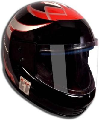 GTB FULL FACE HELMET-ISI MARK-RED KIMI Motorbike Helmet (Black)