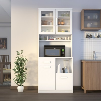 Flipkart Perfect Homes Ramsey Engineered Wood Kitchen Cabinet(Finish Color - White)