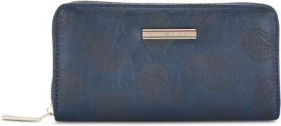 TOMMY HILFIGER Women Blue Artificial Leather Wallet 3 Card Slots