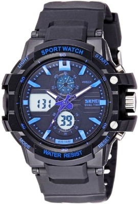 SKMEI AD0990 Blue Sports Analog Digital Watch   For Men SKMEI Wrist Watches