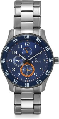 Titan Octane 1632SM03 Analog Blue Dial Men's Watch (1632SM03)