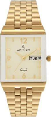 ADIXION 9151YM11A Day And Date 18 K Gold Pleating Igp Analog Watch  - For Men