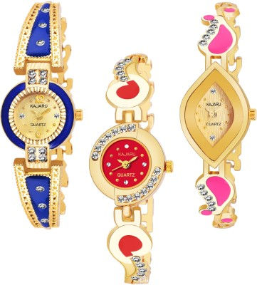 KAJARU BANGLE_1094 NEW ARRIVAL PACK OF 3 WATCH FOR GIRLS Analog Watch  - For Women