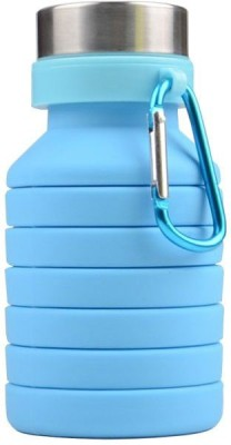 vennar Silicone Expandable and Foldable Drinking Water Bottle (550ML) 550 ml Bottle(Pack of 1, Blue)