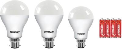 Eveready 10 W, 15 W Round B22 LED Bulb  (White, Pack of 3)