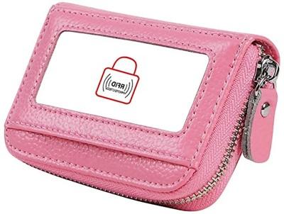 Flipkart SmartBuy New Business/Credit/Visiting/Debit Card Holder Case Wallet for Gift Pink 15 Card Holder(Set of 1, Pink)