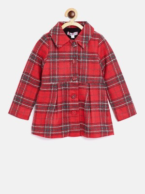 NautiNati Cotton Blend Checkered Coat at flipkart