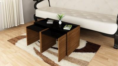 Crystal Furnitech cayman Engineered Wood Coffee Table(Finish Color - Chocklate sawline + Sandy Sawline)