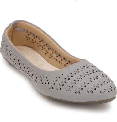 Myra Laser-cut Interlace Bellies For Women(Grey)