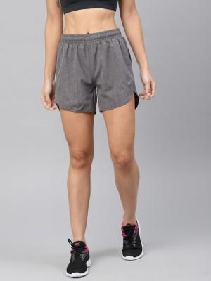 HRX by Hrithik Roshan Solid Women Grey Sports Shorts at flipkart