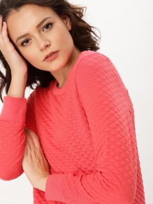 Dressberry Full Sleeve Self Design Women Sweatshirt