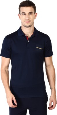 OFF LIMITS Solid Men Polo Neck Blue T-Shirt