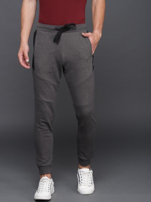 WROGN Solid Men Grey Track Pants at flipkart