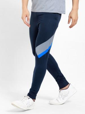 Maniac Color Block Men Dark Blue, Blue, Grey Track Pants