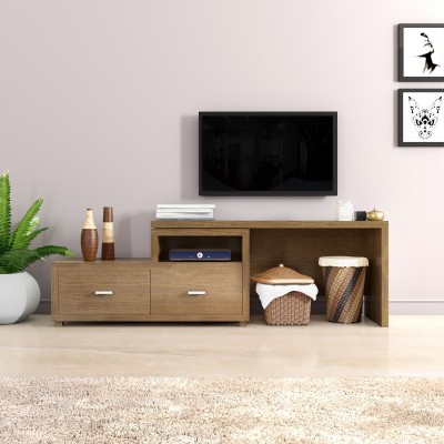 Flipkart Perfect Homes Lavo Engineered Wood TV Entertainment Unit(Finish Color - Walnut)