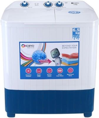 Koryo 6.5 kg Semi Automatic Top Load Washing Machine White, Blue(KWM6820SA) (Koryo)  Buy Online