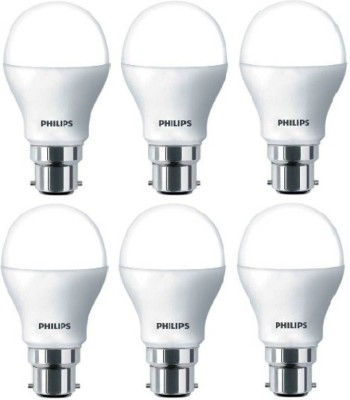 Philips 9 W Standard B22 LED Bulb(White, Pack of 6)