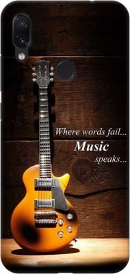 COBIERTAS Back Cover for Mi Redmi Note 7 Pro, Mi Redmi Note 7S, Mi Redmi Note 7(Multicolor Where Words Fail Music Speaks Guitar Designer Print Printed Design, Hard Case)