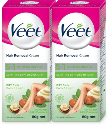 Veet Silk And Fresh Dry Hair Removal Cream 50g Pack Of 2 Cream 100
