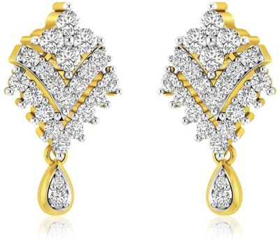 Rockrush Vrutak Diamond Earrings Yellow Gold 14kt Stud Earring