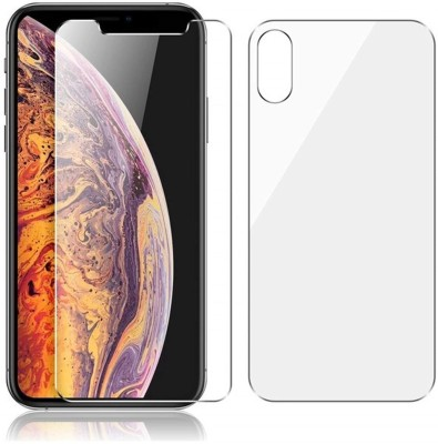 Case Creation Front and Back Screen Guard for Apple Iphone XS (5.8-inch) 2018(Pack of 2)