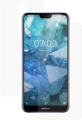 Case Creation Front and Back Screen Guard for Nokia 7.1 (Nokia X7)(Pack of 2)