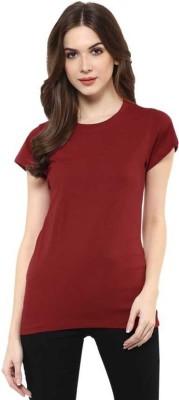 Bueno Life Graphic Print Women's Round Neck Maroon T Shirt