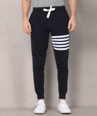 Metronaut Striped Men Dark Blue Track Pants