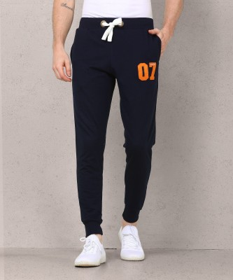 Metronaut Applique Men Dark Blue Track Pants