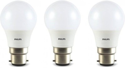 Philips 4W Standard B22 LED Bulb (Yellow, Pack of 3)