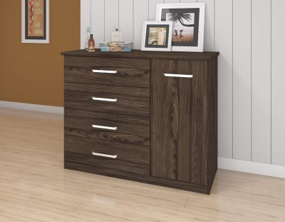 Furn Central Engineered Wood Free Standing Cabinet(Finish Color - Moka)