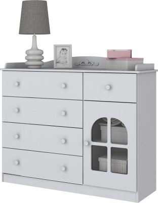 Furn Central Engineered Wood Free Standing Cabinet(Finish Color - Matte White)