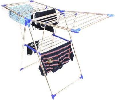 TNC PURE STAINLESS STEEL FOLDABLE BLUE BUTTERFLY Stainless Steel Floor Cloth Dryer Stand(Blue)