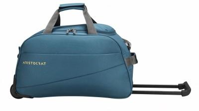 ARISTOCRAT ROOKIE DFT 52  E  TEAL BLUE Duffel With Wheels  Strolley  ARISTOCRAT Duffel Bags