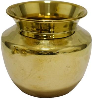 Puja N Pujari Brass Puja Kalash/ Lota/Chambu/ Kalash for pooja (4.5 Inch) Brass Kalash(Gold)