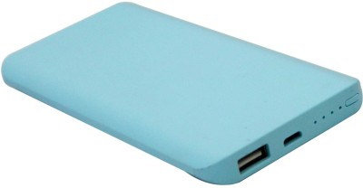 Tiara 5000 mAh Power Bank  Sm Slim, Portable Battery Charger  Blue, Lithium Polymer