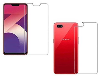 Fashion Way Front and Back Tempered Glass for OPPO A3S {FLEXIBLE GLASS UNBREAKABLE GLASS GUARD }(Pack of 2)