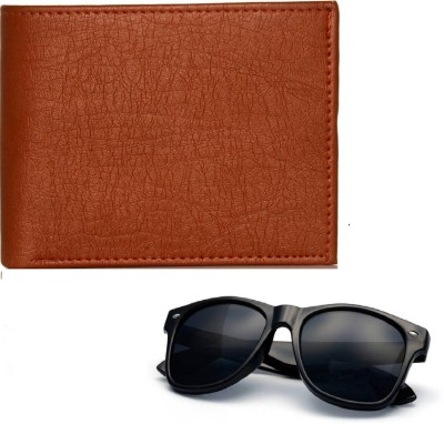 FERRET Wallet, Round Sunglass Combo(Black, Brown)