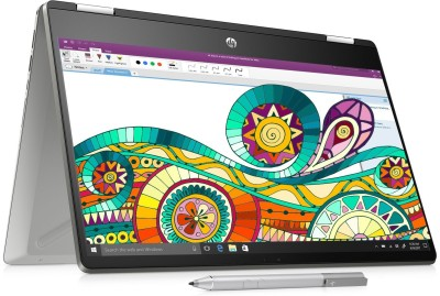 HP Pavilion x360 Core i3 8th Gen - (4 GB/1 TB HDD/256 GB SSD/Windows 10 Home) 14-dh0047TU 2 in 1 Laptop(14 inch, Natural Silver, 1.59 kg, With MS Office)