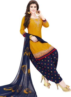 Fashion Valley Poly Crepe Printed Salwar Suit Material(Unstitched)
