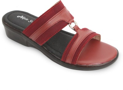 Adjoin Steps Women Maroon Wedges