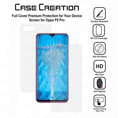Case Creation Screen Guard for Oppo F9 Pro 6.3-Inch(Pack of 2)