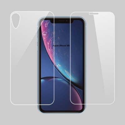 Case Designer Front and Back Screen Guard for Apple Iphone XR (2018)(Pack of 2)